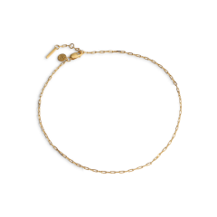 Souvenir Anklet, gold-plated sterling silver