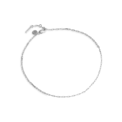Souvenir Anklet, sterling silver
