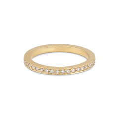 Large alliance ring, 18-carat gold, 0,01 ct diamonds
