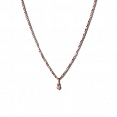 Combination of an Anchor Chain and Diamond Pendant, rose gold-plated sterling silver